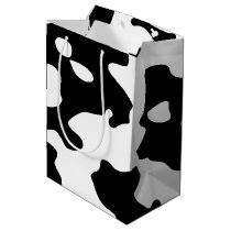 Cow Pattern Black and White Medium Gift Bag