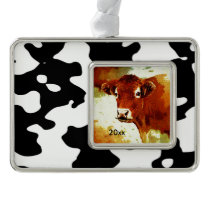 Cow Pattern Black and White Ornament
