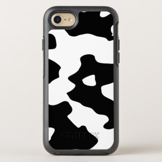 Cow Pattern Black and White OtterBox Symmetry iPhone 7 Case