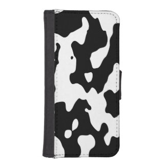 Cow Pattern Black and White Phone Wallet Cases