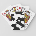 """Cow Pattern Black and White Playing Cards<br><div class=""""desc"""">Farm animal and Country theme black and white cow print spots and splotches pattern. The pattern is reminiscent of Holstein and Friesian cows.</div>"""