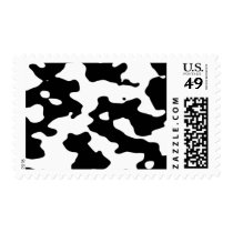 Cow Pattern Black and White Postage
