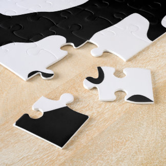 Cow Pattern Black and White Puzzle