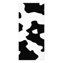 Cow Pattern Black and White Rack Card