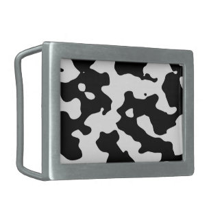 Cow Pattern Black and White Rectangular Belt Buckle