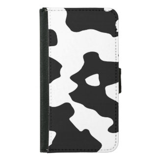 Cow Pattern Black and White Samsung Galaxy S5 Wallet Case