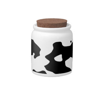 Cow Pattern Black and White Spots Candy Jar
