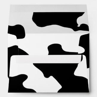 Cow Pattern Black and White Spots Envelopes