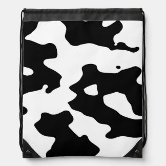 Cow Pattern Black and White Spots Backpacks