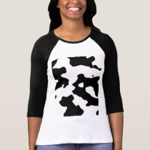 Cow Pattern Black and White T-Shirt