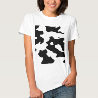 Cow Pattern Black and White T-shirts