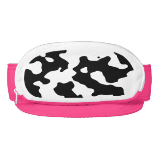Cow Pattern Black and White Visors