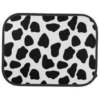 Cow pattern car mat