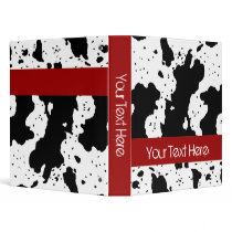 Cow Pattern Customizable Binder