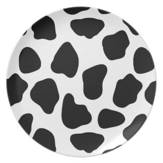 Cow pattern dinner plate