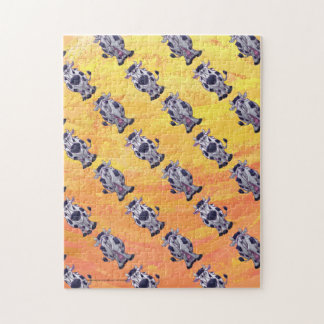 Cow Pattern Jigsaw Puzzle