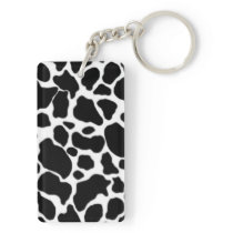 Cow Pattern Keychain