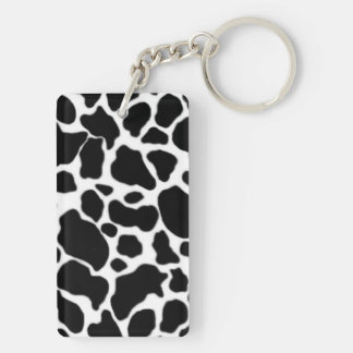 Cow Pattern Double-Sided Rectangular Acrylic Keychain