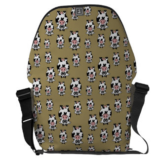 Cow Pattern Messenger Bag