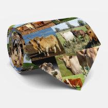 Cow Photo Collage, Neck Tie