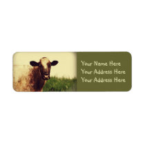 Cow Photo Label