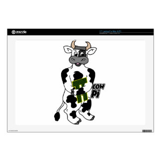 """COW Pi 3.14  CELEBRATE Pi DAY 17"""" Laptop Decal"""
