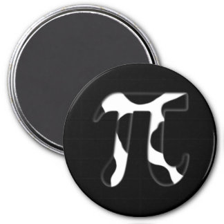 Cow Pi 3 Inch Round Magnet