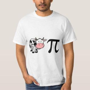 Cow Pi T-shirt at Zazzle