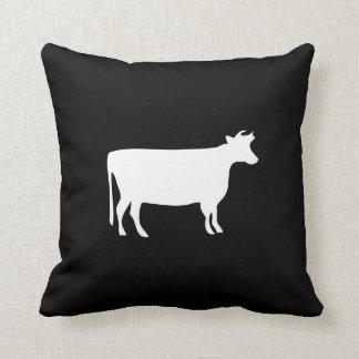 Cow Pictogram Throw Pillow