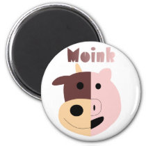 Cow   Pig = Moink magnet