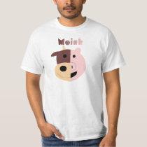 Cow   Pig = Moink mens tshirt