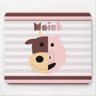 Cow + Pig = Moink mousepad