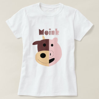Cow + Pig = Moink womens tshirt