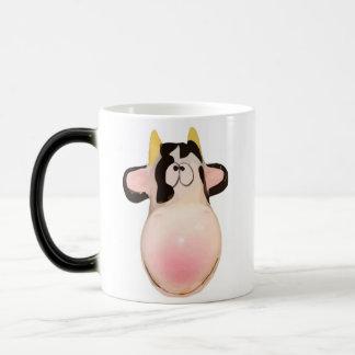 Cow pink smiles ridiculous magic mug