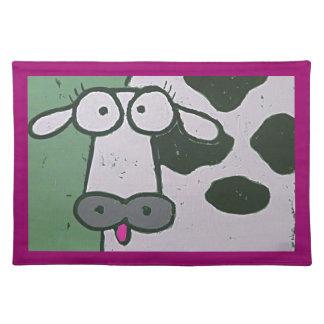 cow placemat cloth place mat