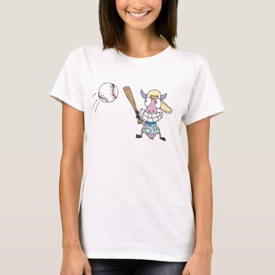 Cow Play Baseball T-Shirt