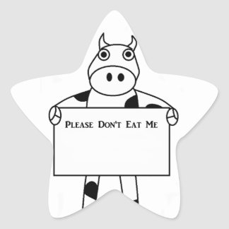 Cow Please Don t Eat Me Star Sticker