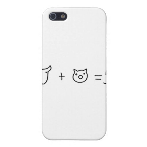 cow plus pig equal five covers for iPhone 5