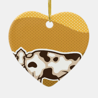 Cow Pop Art Ceramic Ornament