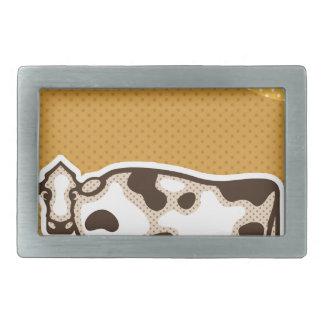 Cow Pop Art Rectangular Belt Buckle