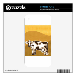 Cow Pop Art Skins For The iPhone 4S