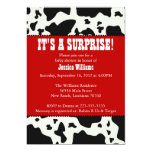 "Cow Print Baby Shower 5"" X 7"" Invitation Card"
