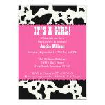 Cow Print Baby Shower Custom Invites