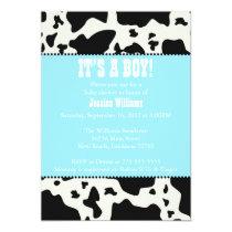 Cow Print Baby Shower Invitation