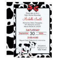 Cow Print Baby Shower Invitations