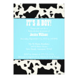 Cow Print Baby Shower Personalized Invites