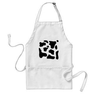 Cow print black and white blotchy pattern apron