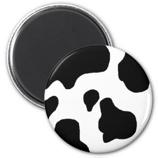 Cow print black and white blotchy pattern magnet