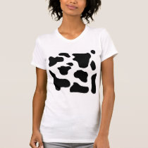 Cow print black and white blotchy pattern T-Shirt