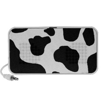 Cow Print - Black and White Dairy Cow Pattern Laptop Speakers